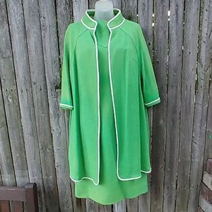 Vintage Kim Kory 60s Dress w/Matching House Coat